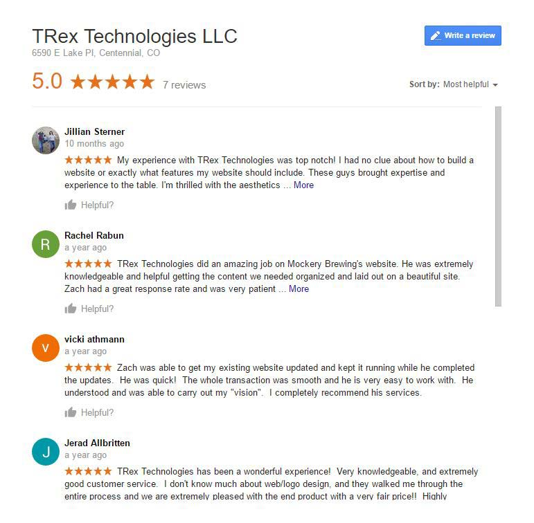 Trusted Web Design | TRex Technologies